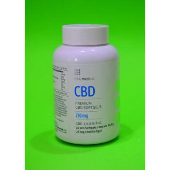 USA Medical 750mg CBD kapszula 30db