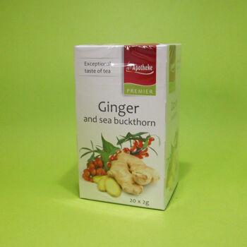 Apotheke Fűszeres gyömbér-homoktövis tea filteres 20x2g