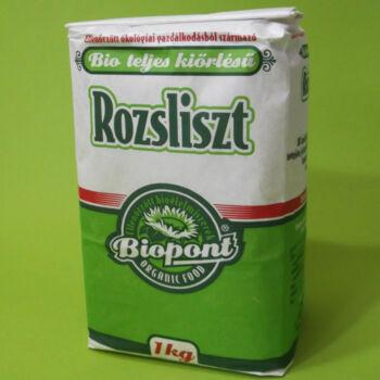 Biopont Bio teljes kiőrlésű rozsliszt