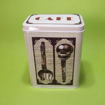 Fém kávétartó doboz