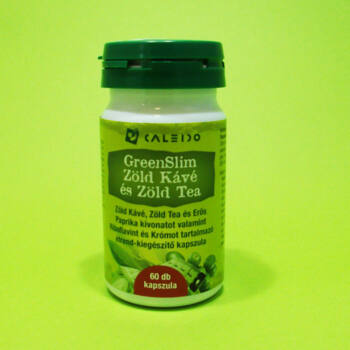 Caleido Greenslim zöld kávé és zöld tea kapszula 60db