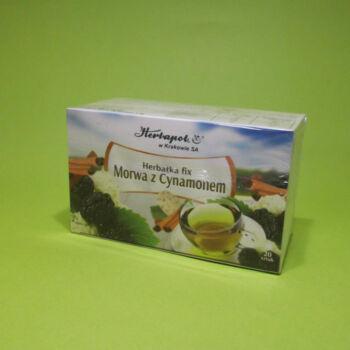 Herbatka Fehér eperfa levél és fahéj tea 20x2g