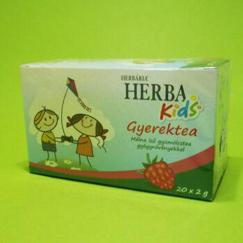 Herbária Málna ízű gyerektea gyógynövényekkel filteres 20x2g