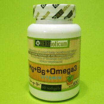 Herbioticum Mg+B6+Omega 3 vitamin lágyzselatin kapszula 60db