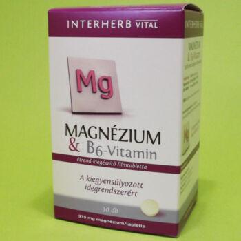 Interherb Magnézium B6-vitamin tabletta 30db