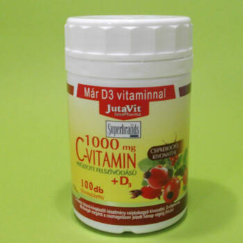 Jutavit C-vitamin 1000mg+D3-vitamin tabletta 100db