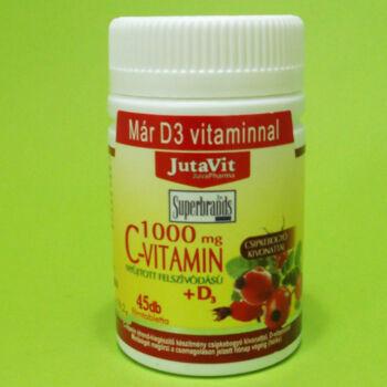 Jutavit C-vitamin 1000mg+D3-vitamin tabletta 45db