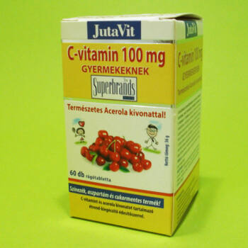 Jutavit C-vitamin 100mg gyerekeknek rágótabletta 60db