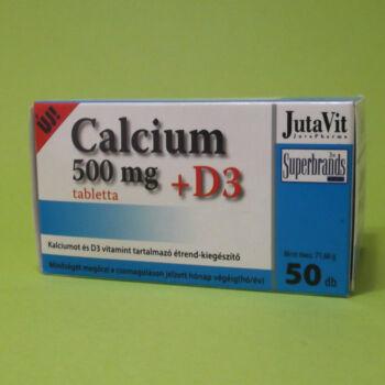 Jutavit Calcium 500mg+D3 tabletta 50db