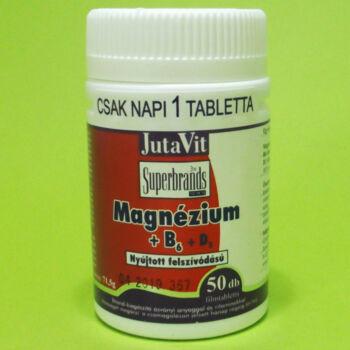 Jutavit Magnézium+B6+D3 vitamin tabletta 50db