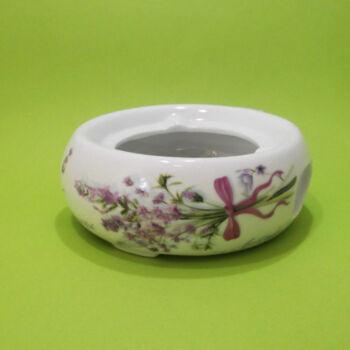 Levendulás hamuzó porcelán