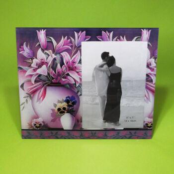 Virágos képkeret 13x18cm