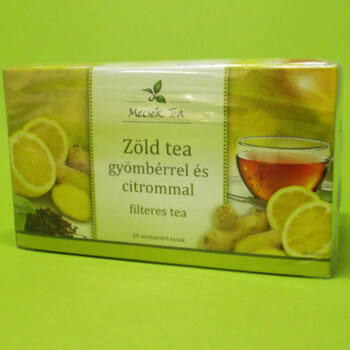 Mecsek Gyömbér-Citrom ízű Zöld tea filteres 20x2g