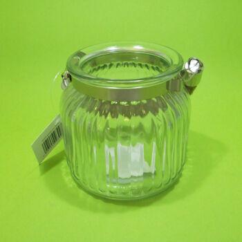 Mécsestartó bordázott üveg