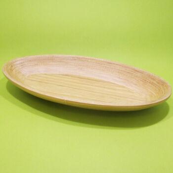 Spirál bambusz tál