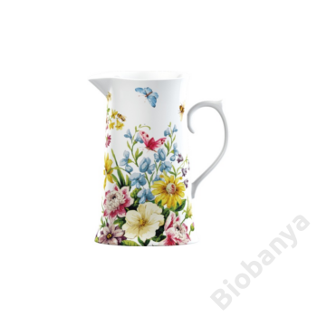 Porcelán kancsó virág mintával 1200ml English Garden