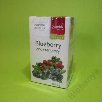Apotheke Kékáfonya-tőzegáfonya tea 20x2g