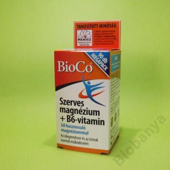 Bioco Szerves magnézium+B6-vitamin tabletta 90db