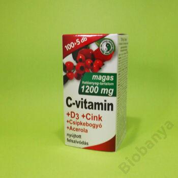 Dr. Chen C-vitamin 1200mg+D3+Cink+acerola+csipkebogyó tabletta 105db
