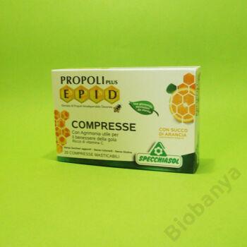 E.P.I.D. Propolisz szopogatós tabletta narancs ízű 20db