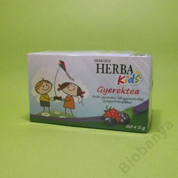 Herbária Erdei gyümölcs ízű gyerektea gyógynövényekkel filteres 20x2g