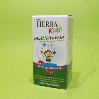 Herbária Multivitamin gyermekeknek erdei gyümölcs ízű rágótabletta 30 db