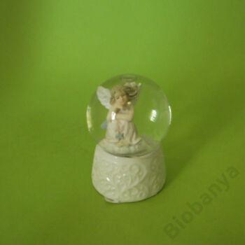 Hógömb könyöklő angyal 4,5cm
