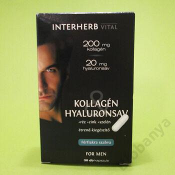 Interherb Kollagén-hyaluronsav Férfi kapszula 30db