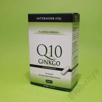 Interherb Q10-ginkgo kapszula 30db