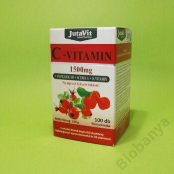 Jutavit 1500mg C-vitamin csipkebogyó és acerola kivonattal tabletta 100db