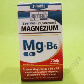 Jutavit szerves Magnézium+B6+D3 tabletta 70db
