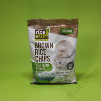 Rice up Gluténmentes rizs chips hagymás-tejfölös 60g