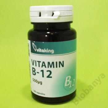 Vitaking B-12 vitamin kobalamin 500mg kapszula 100db