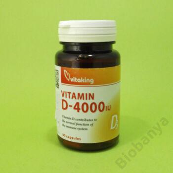 Vitaking D-vitamin 4000IU kapszula 90db
