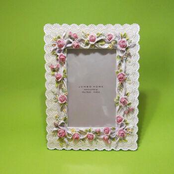 Rózsás képkeret 10x15cm