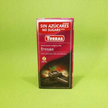 Torras Diabetikus Epres étcsokoládé 75g