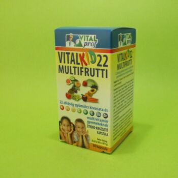Vitalkid 22 Zöldség és gyümölcs kivonattal multivitamin gyerekeknek 60db