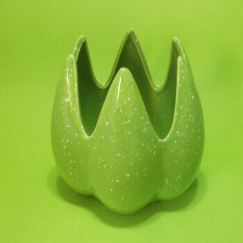 Zöld mécsestartó